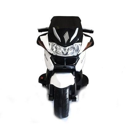 Электромотоцикл BMW R1200RT белый 12V - HZB-118 (колеса резина, кресло кожа, музыка, ручка газа)