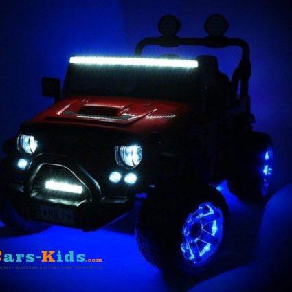 Электромобиль Jeep Wrangler White 2WD - SX1718-S белый (кресло кожа, колеса резина, пульт, музыка)